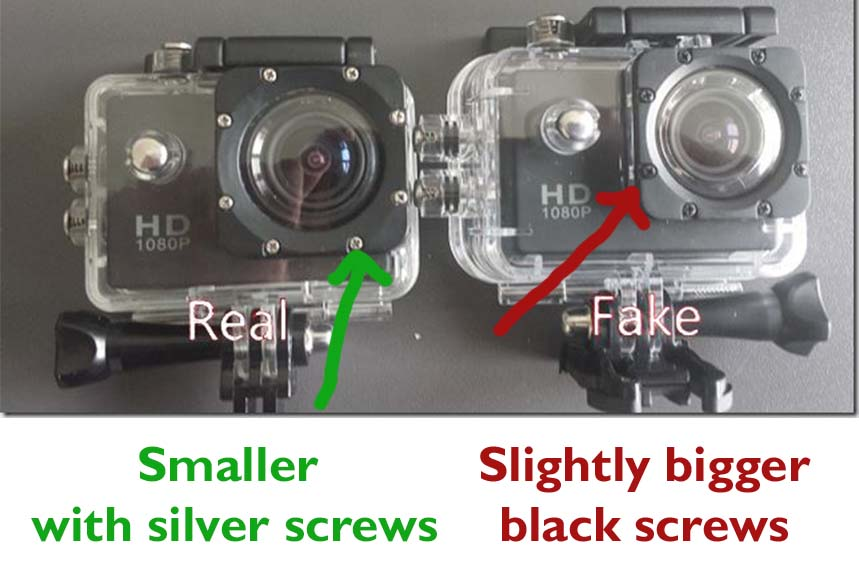 SJCAM or SJ SCAM? Difference between the real and a fake ...