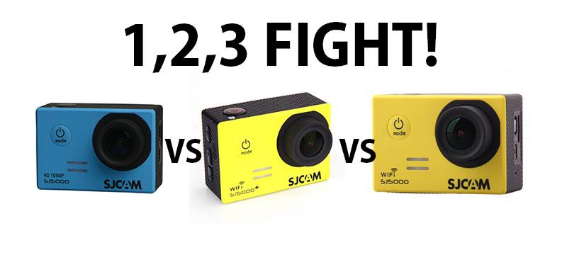compare different sj5000 models wifi, non wifi and sj5000 plus