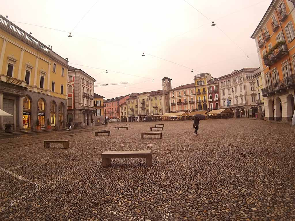 Piazza Grande, Peble Pawning - Locarno Switzerland. Photo with SJ4000 WiFi. Cloudy Mode. 12 MP. (Compressed)