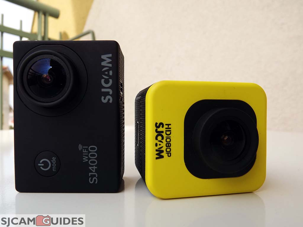 SJ4000 WiFi vs M10 Cube Action Camera difference height