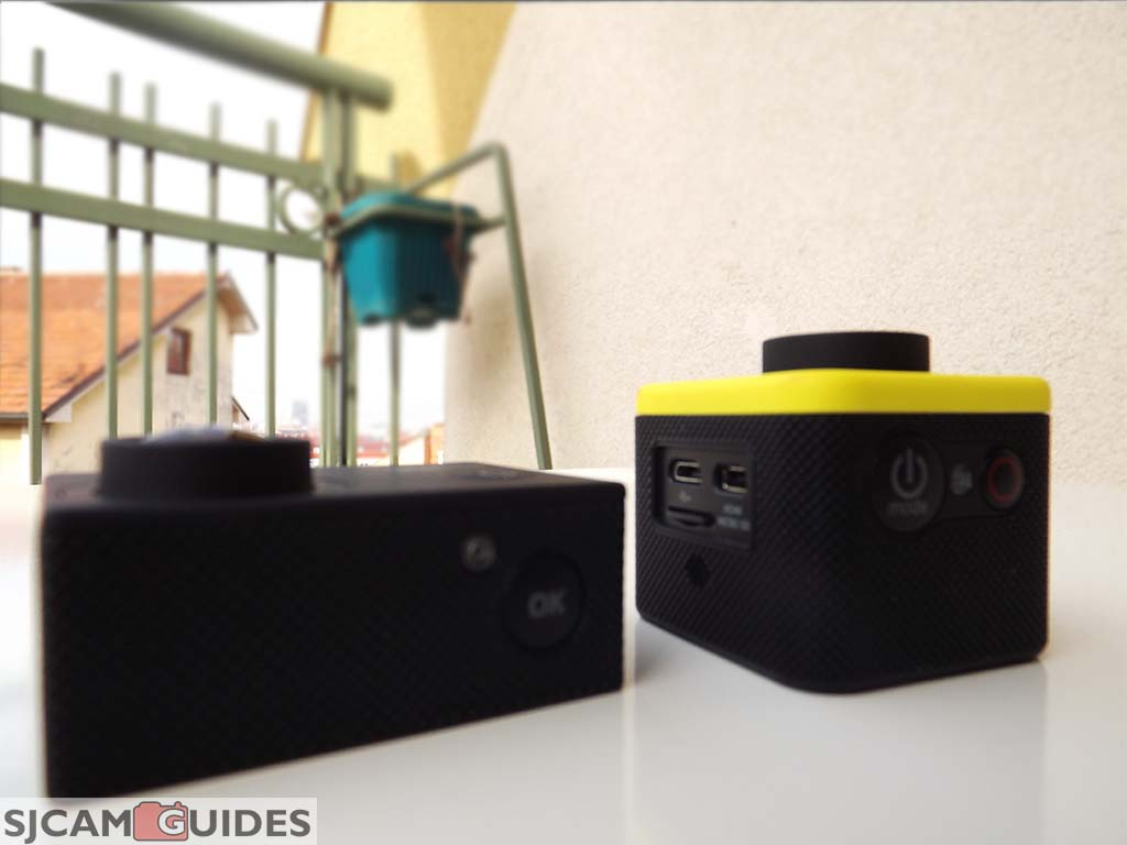 sj400 is larger then the m10 camera