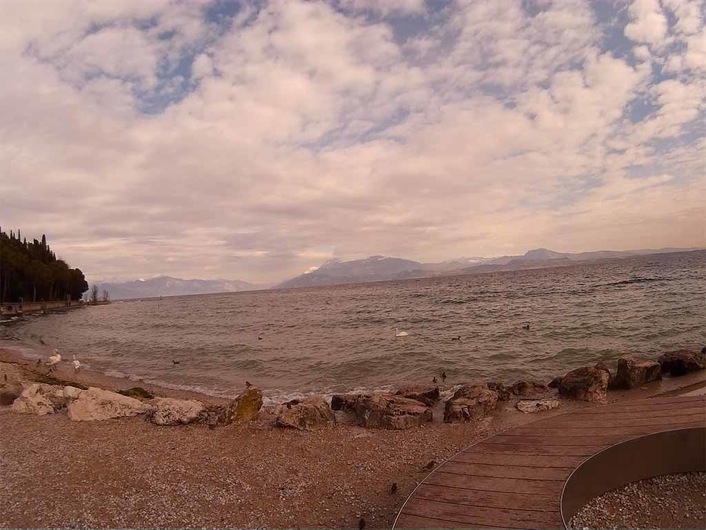 Garda Lake beach with m10 action cam
