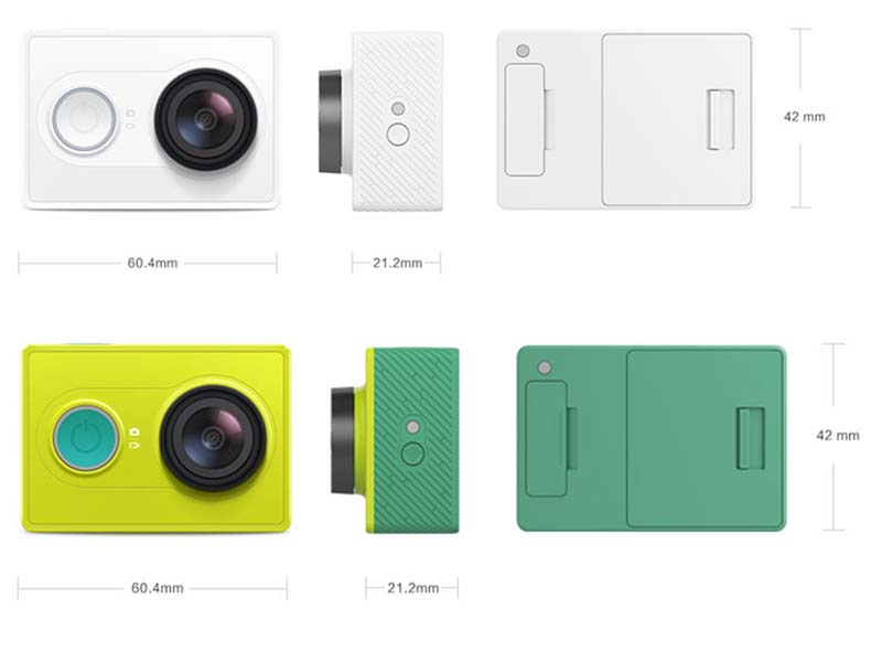 The Size Of Xiaomi YI Sports Action Camera Is Tiny And Can Easily Fit