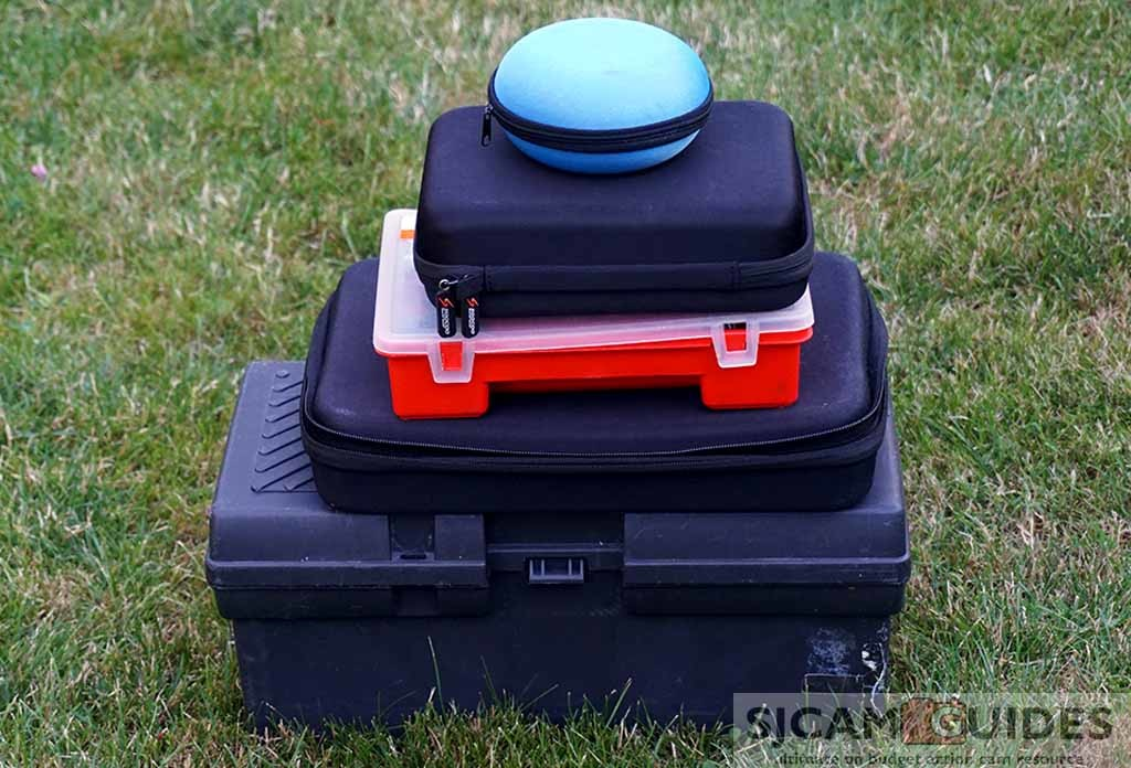 Action camera storage cases and bags