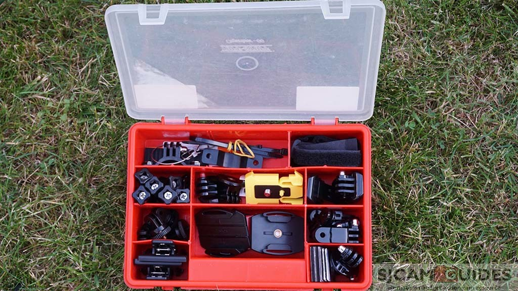Smaller toolbox GoPro storage and protection organizer for accessories
