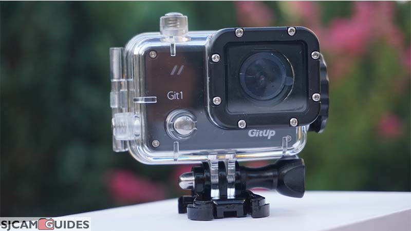 Git 1 action camera in waterproof case black (pro version)