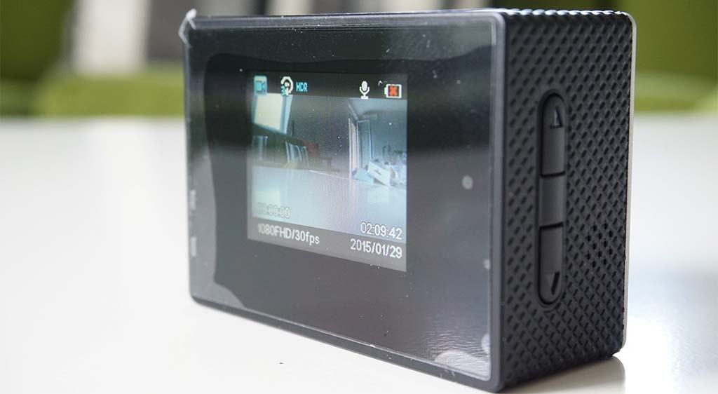 Camera has an LCD screen which enables you to preview footage right away as well as set up various options.