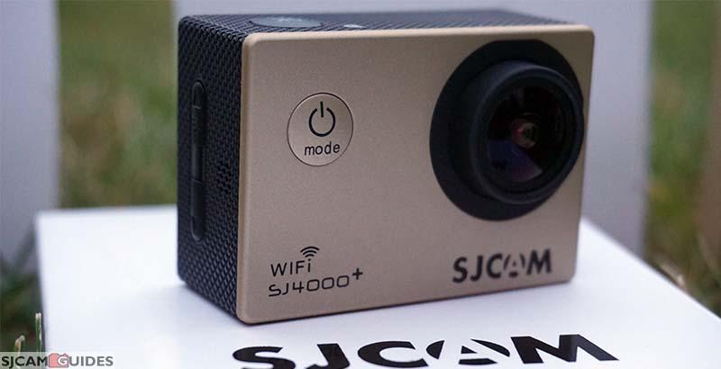 Front of the SJCAM SJ4000 Plus camera. I got a golden color.