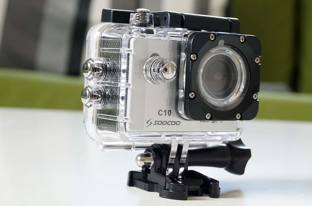 SooCoo C10 WiFi Action camera in waterproof case