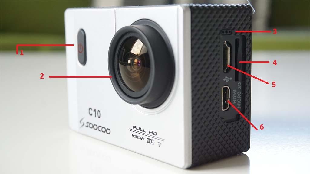 Front of SooCoo C10 camera