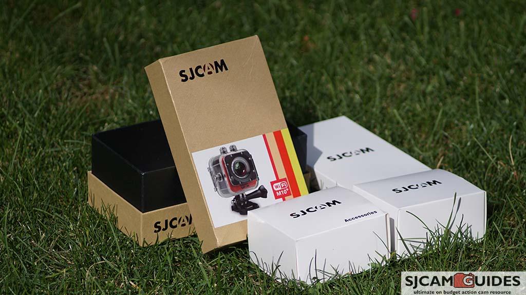 SJCAM SJM10+ Plus Box Package Unboxing Mini packs