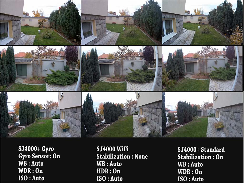 Side by side video extracted frames 1080p 30fps at daylight.