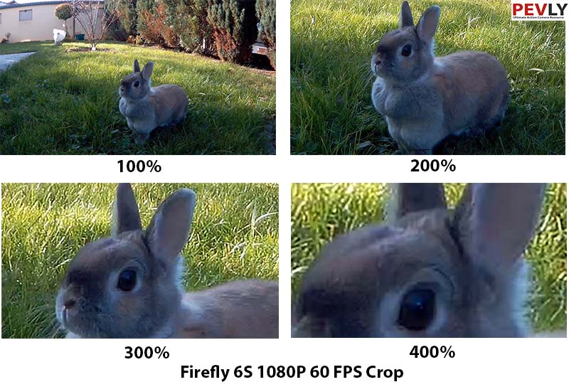 Cropped video frame 1080 p 60 frames per second. up to 4x. (400%) scaled.