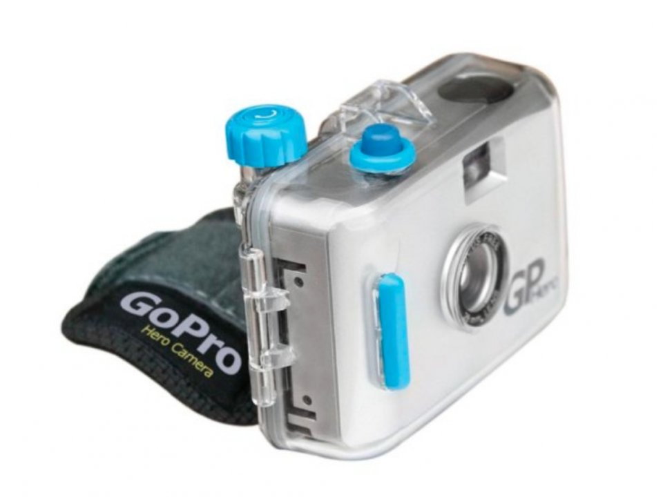 First action camera commercially sold - GoPro Hero 35mm.