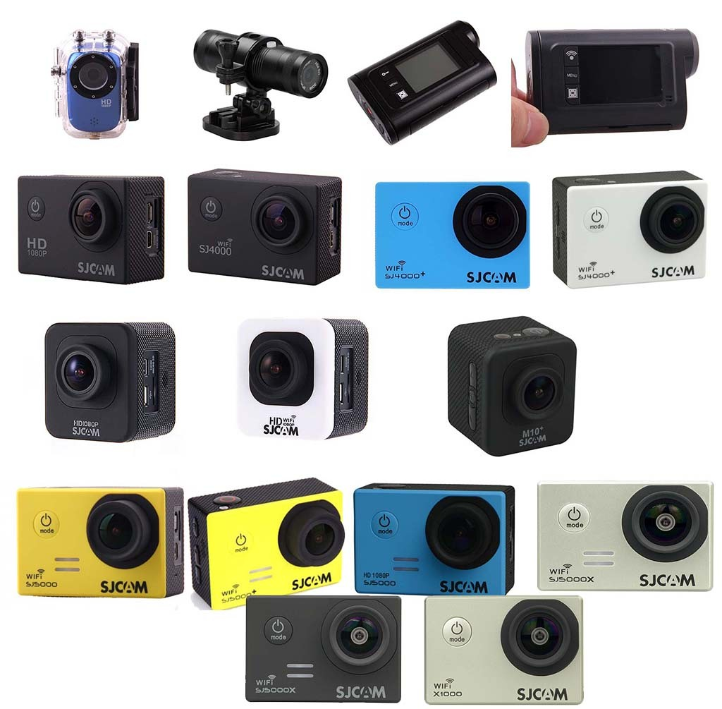 All SJCAM action cameras compared side by side
