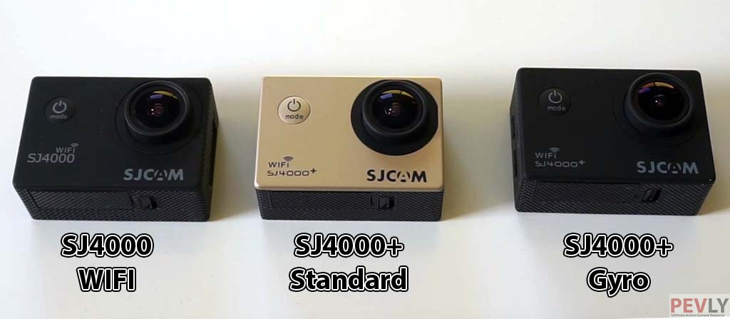Overview of all 3 SJ4000 series cameras : WiFi, Standard and Gyro.