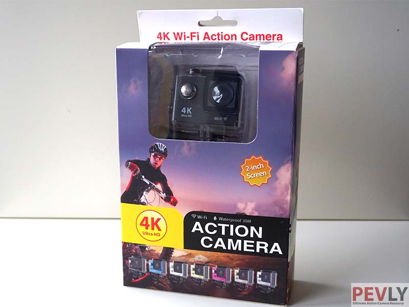 Box of Eken H9 contains a camera and lots of accessories.