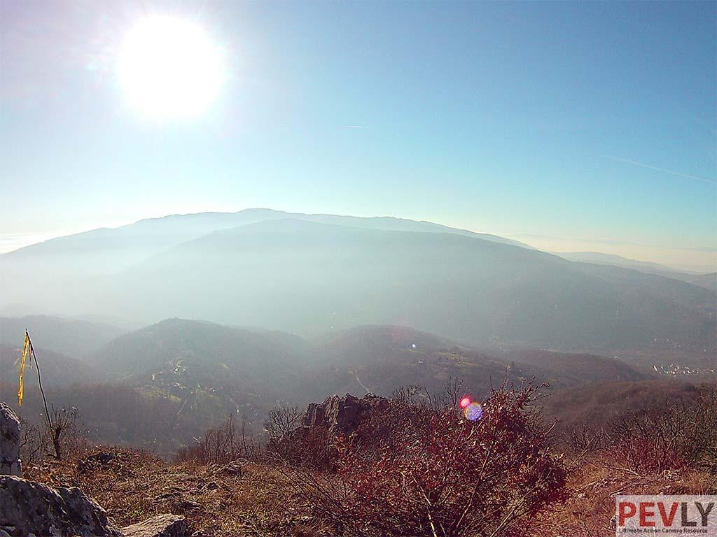 EKEN H9 photo sample direct sunlight test