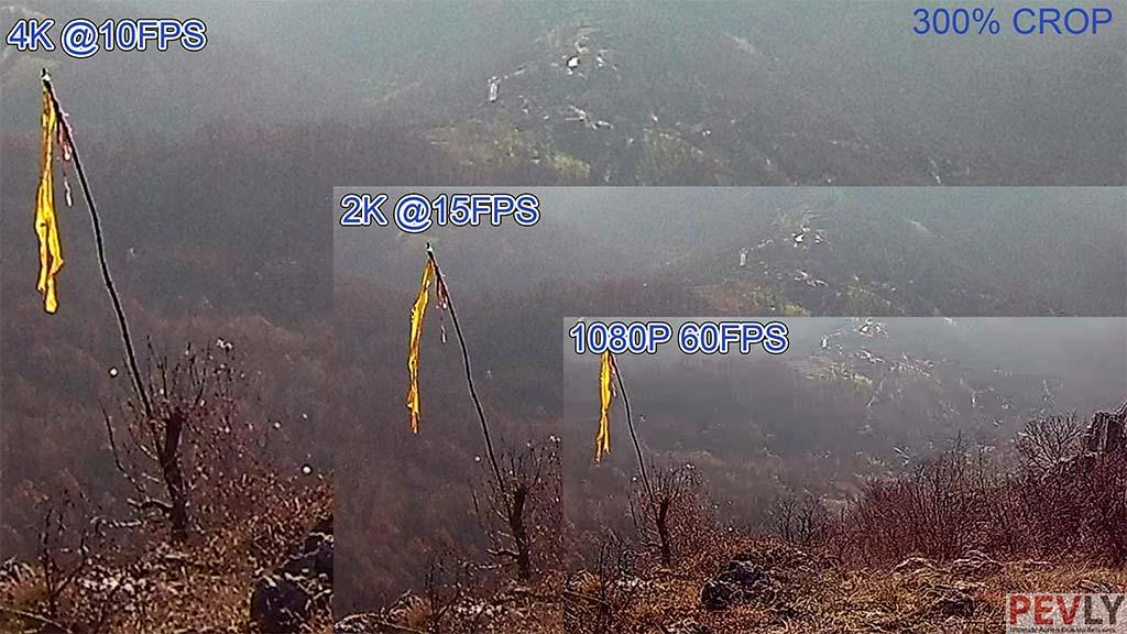 Resolution comparison 1920x1080 vs 2k vs 4k eken h9