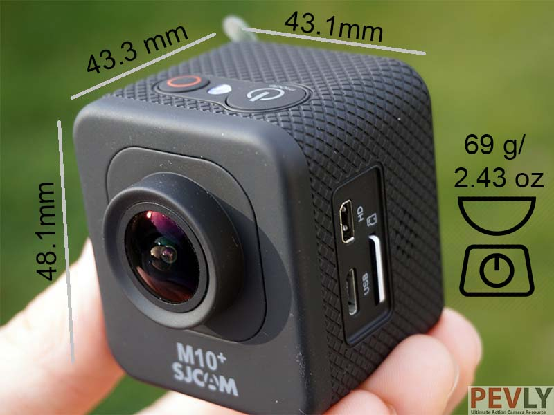 Once measured, it is obvious camera is not exactly a cube.
