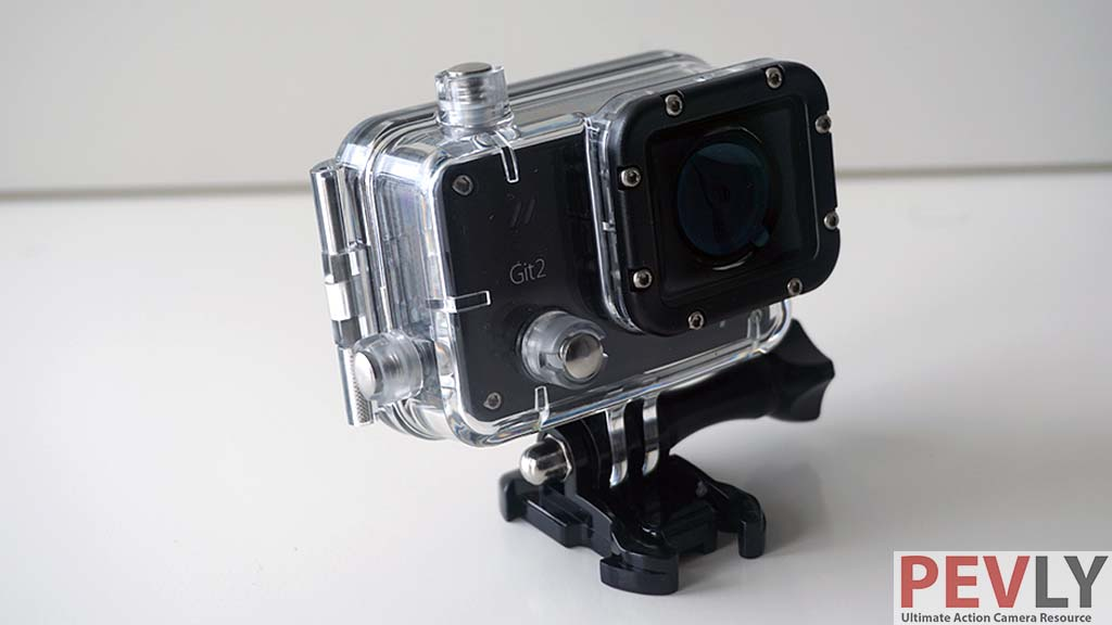 Git 2 has a waterproof case (available in pro packing or can be bought separately) that allows up to 30m underwater usage.