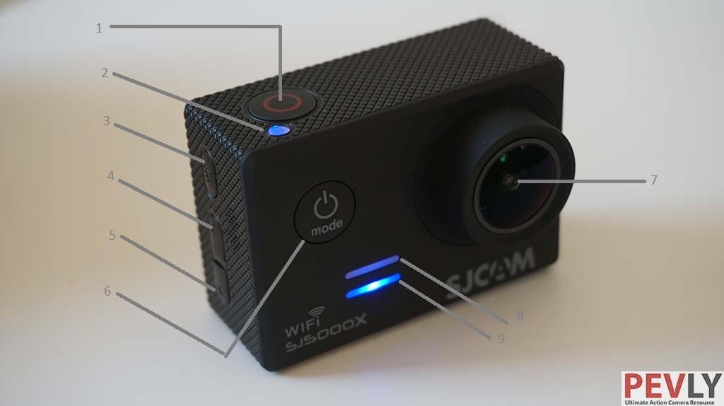 SJ5000X Elite 4K action camera front