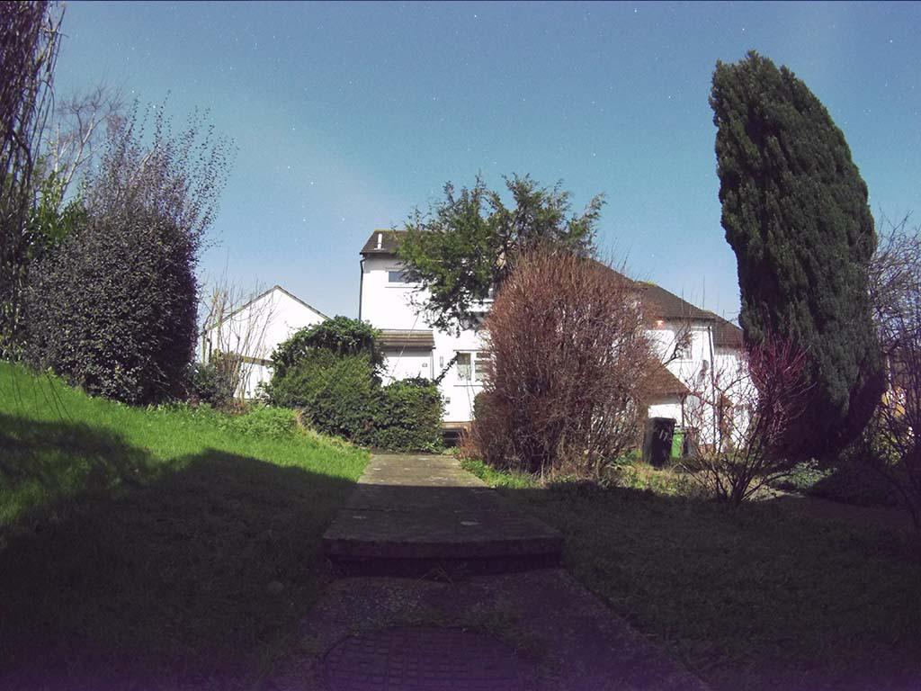 House by moonlight 1-40AM. Photo credits Nigel Savidge