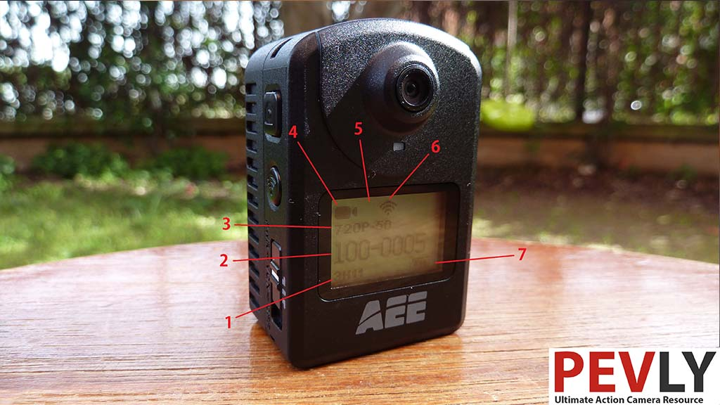 Settings and Menu aee md10 action camera