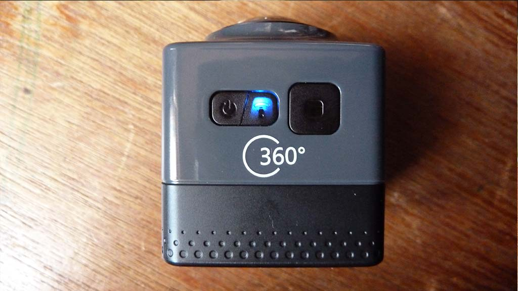 Cube 360 WiFi 360 Degree Wide Angle Action Camera buttons 3