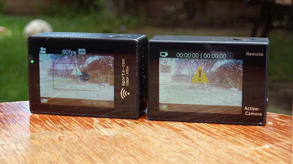 Amkov 7000s vs Eken H8R LCD BACK 2