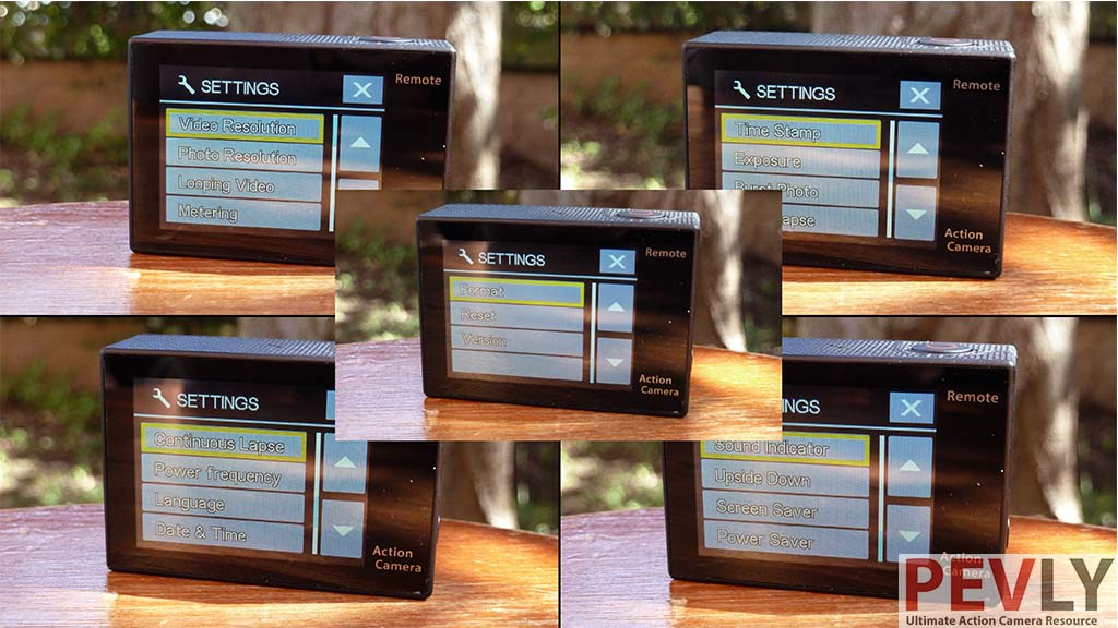 Eken H8R Action Camera Menu Overview 13