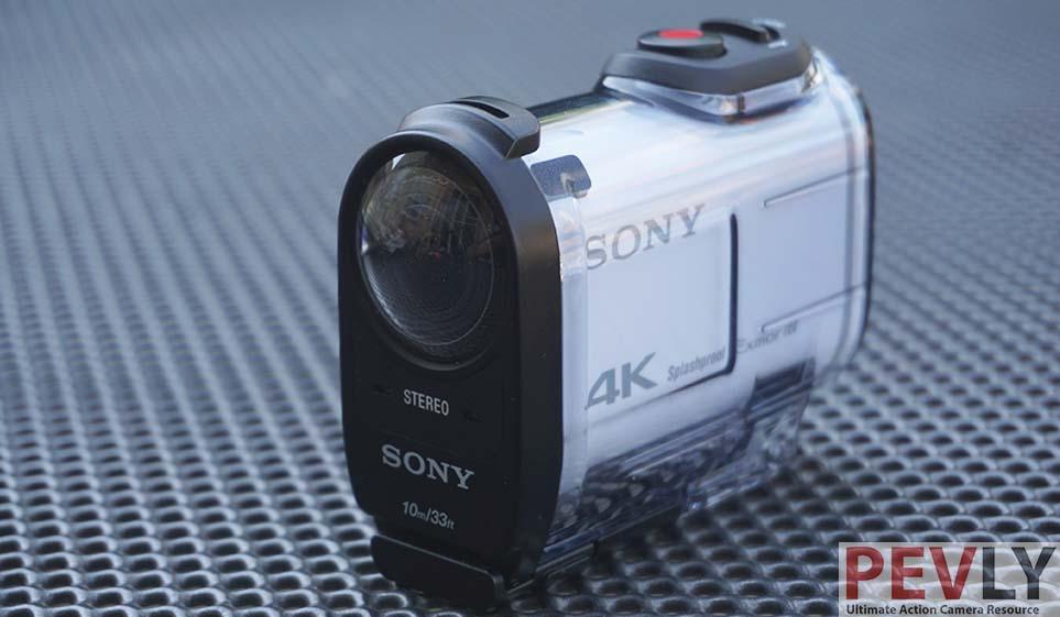 Sony 4K FDR-X1000V Action Camera in waterproof housing 2