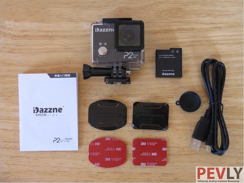 Dazzne P2 Plus 2K action camera acessories
