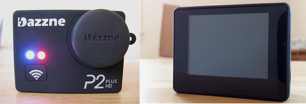 Dazzne P2+ front and display (back)