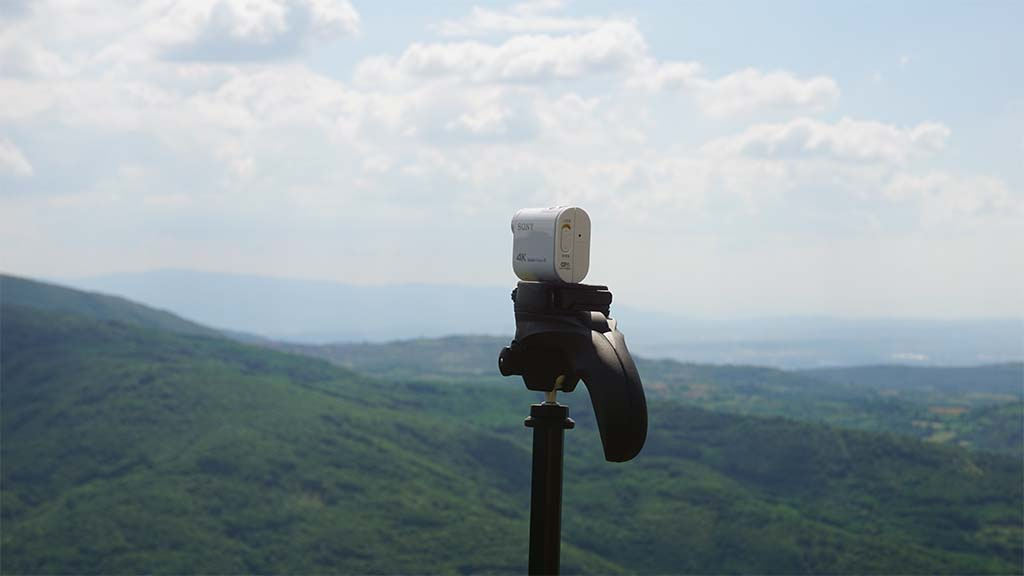 My setup for time-lapse photography.