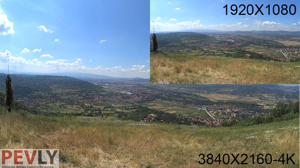 Sony FDR-X1000V 4K Action Cam - 1080P vs 4K