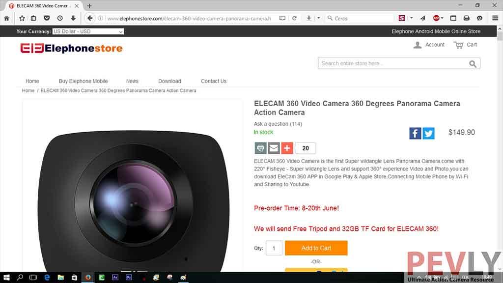 Elephone EleCam 360° - Cheap 360° Video Camera Review | Pevly