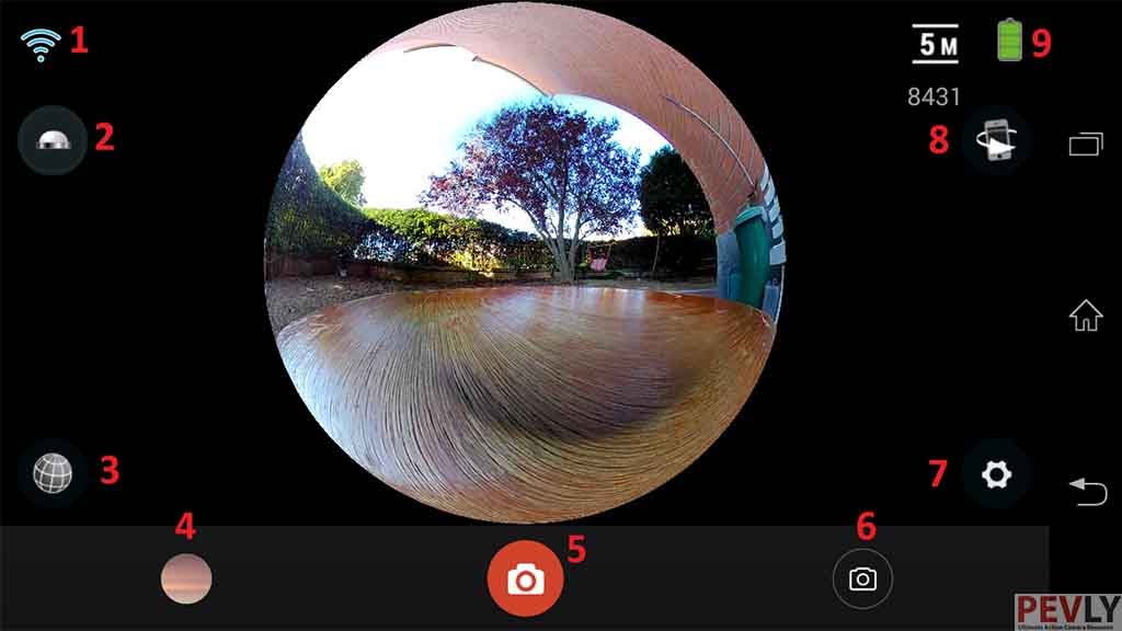 ELECAM 360 Video Camera 360 Degrees Panorama Camera APP 15
