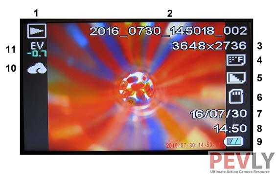 Elephone Explorer Pro Action Camera OSD Playback -Photos