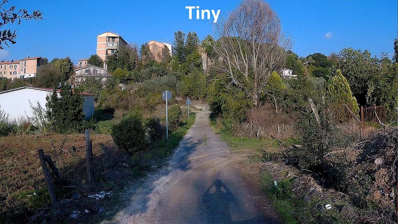 Tiny (narrow) field of view