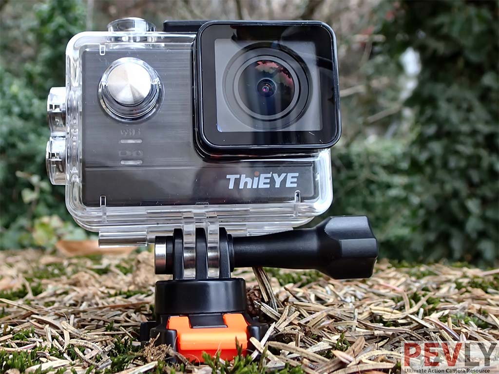 Thieye T5e Action Camera Review Pevly X Pro 6s 4k 12 Mp The Clear Plastic Underwater Casing Appears Like Any Other Cam Housing Its Port And Sealing Locking Elements Way Command Buttons Are
