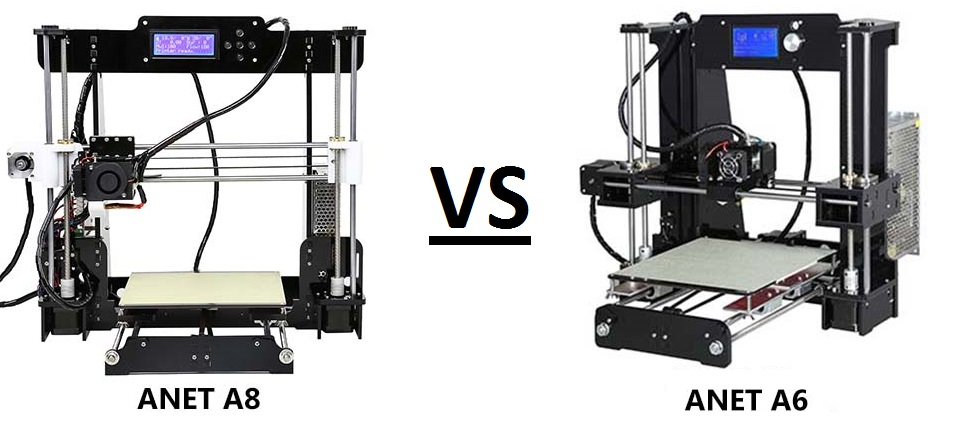 Anet A8 vs A6 – 3D Printer comparison – Which one is better?
