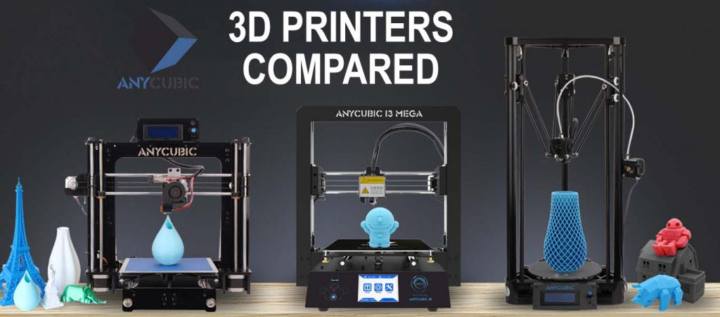 AnyCubic 3D Printers Compared – I3 Mega vs Kossel vs I3