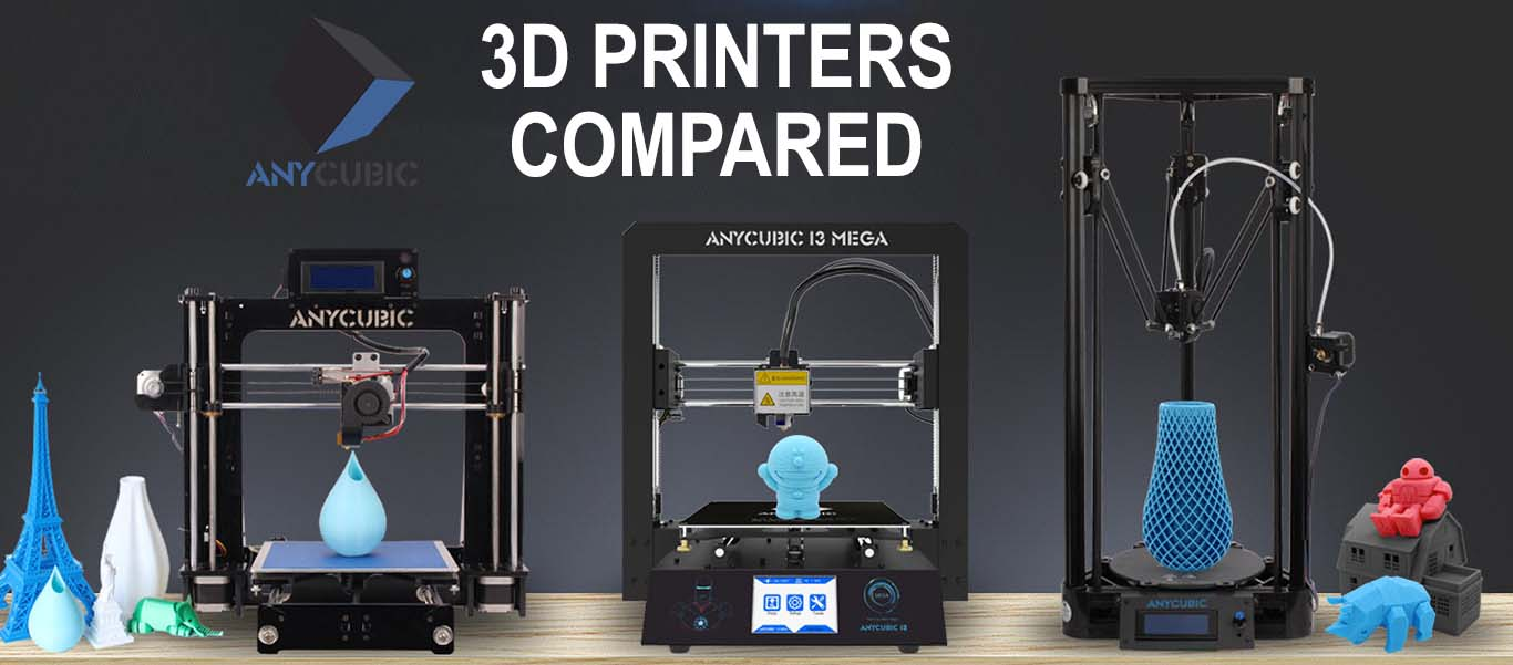 AnyCubic 3D Printers Compared - I3 Mega vs Kossel vs I3 | Pevly