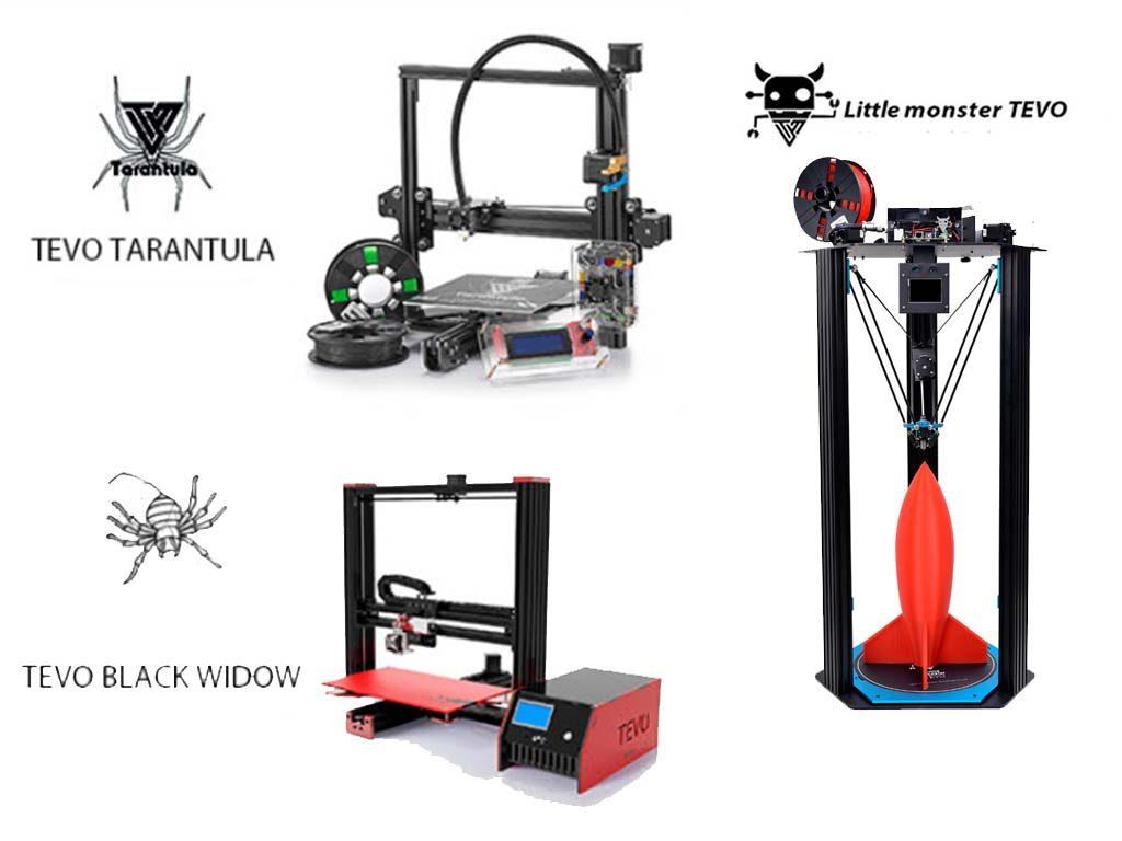 Tevo Tarantula vs Black Widow vs Delta 3D Printers
