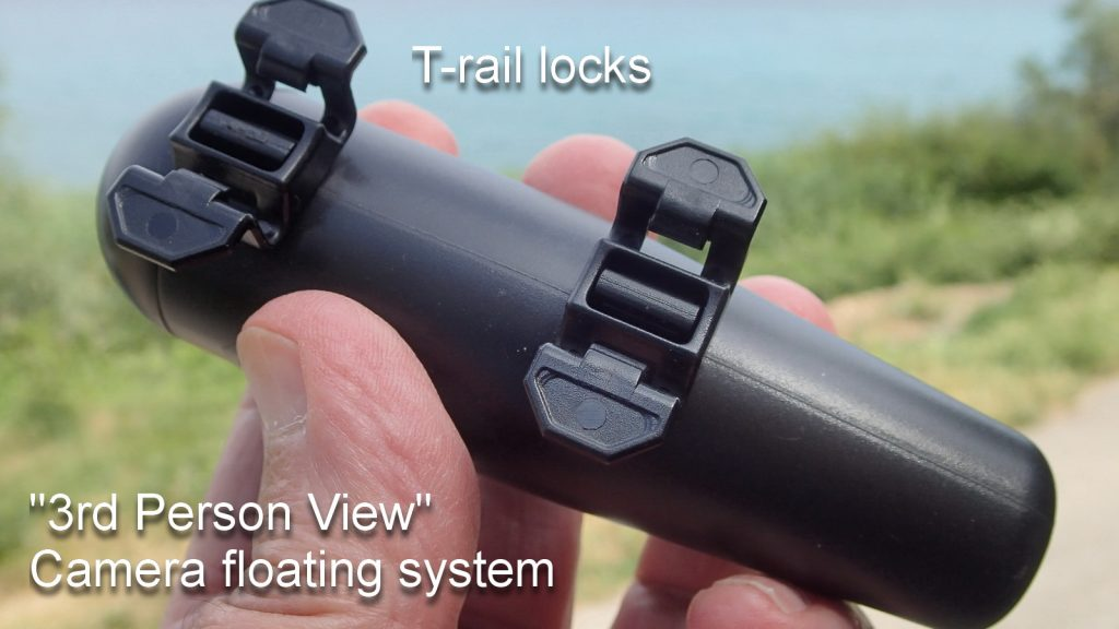 Photo: T-rail locks and third-person view camera floating system.