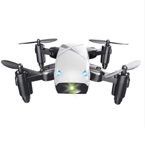 S9 Micro Foldable RC Drone - RTF - WHITE STANDARD VERSION