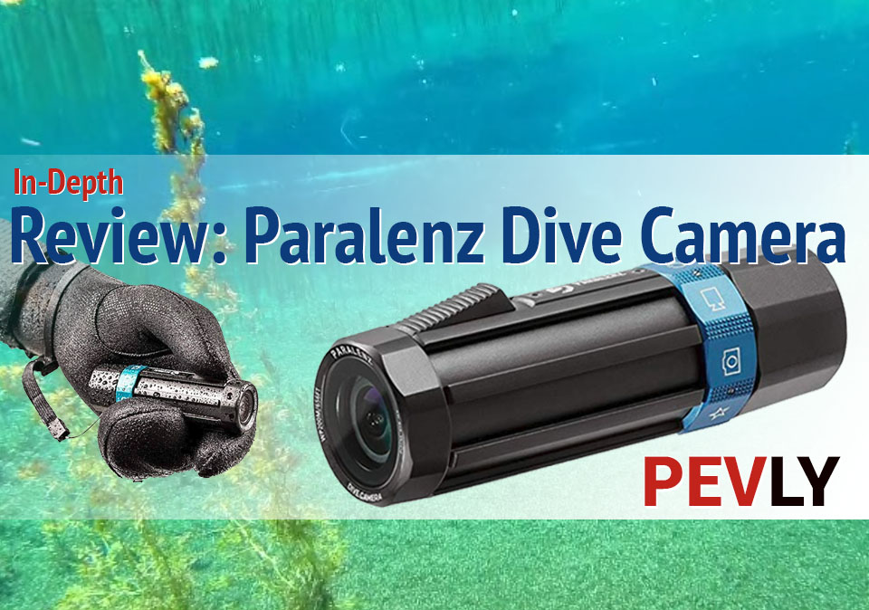 in-depth Paralenz Dive Camera Review. Product photos and underwater view.