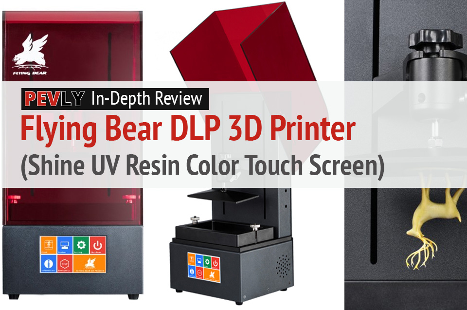 In-Depth Review: The Flying Bear DLP 3D Printer Shine UV Resin Color Touch Screen.