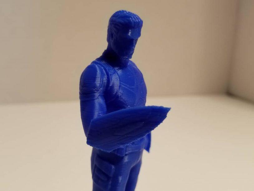 3D printout - Tevo Michelangelo - blue Captain America.